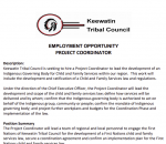 EMPLOYMENT OPPORTUNITY PROJECT COORDINATOR